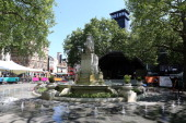 A view of the new look Leicester Sqaure which opens this week at Leicester Square on May 27 2012 in London England The programme of relaunch events...