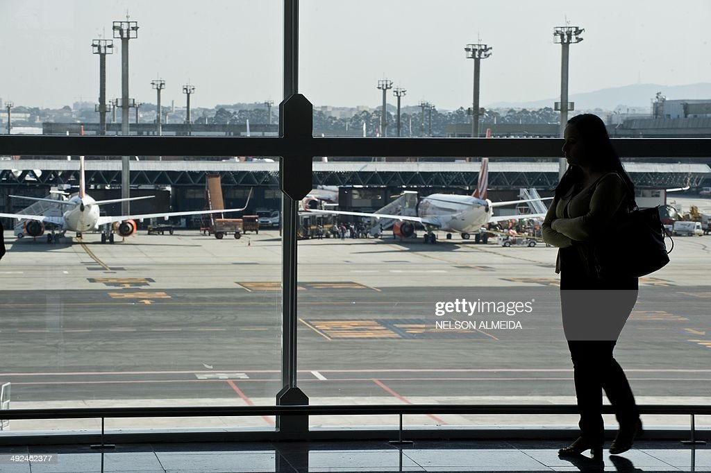 View of the new passenger terminal at Sao Paulo International airport in Guarulhos which was inaugurated on May 20 2014 AFP PHOTO / NELSON ALMEIDA