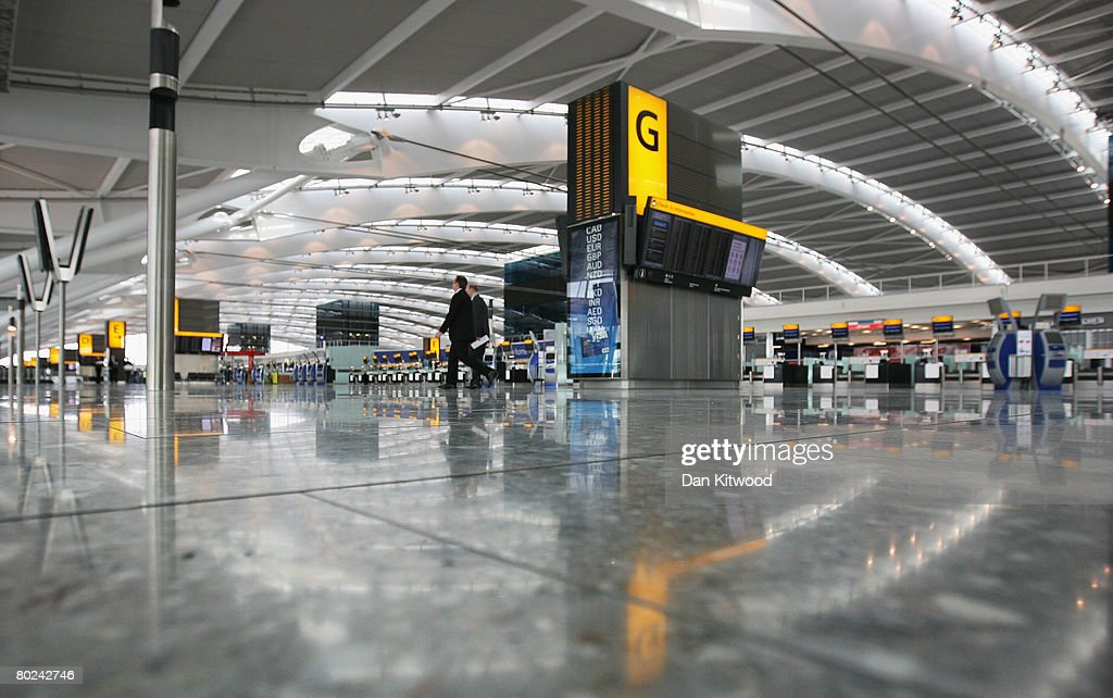 A view of the new Terminal 5 at Heathrow before it's official opening on March 14, 2008 in London, England.