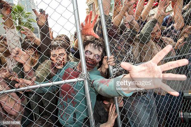 A view of the new Walking Dead attraction 'Don't Open Dead Inside' at the Press Event For 'The Walking Dead' Attraction 'Don't Open Dead Inside' at...