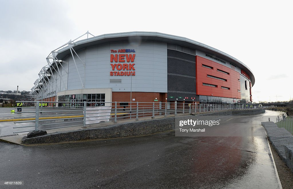 A view of the New York Stadium during the FA Cup Third Round match between Rotherham United and Bournemouth at The New York Stadium on January 3, 2015 in Rotherham, England.