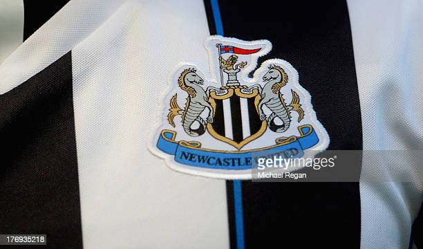A view of the Newcastle United badge on a shirt during the Barclays Premier League match between Manchester City and Newcastle United at the Etihad...