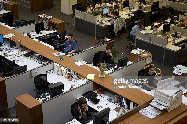 A view of the newsroom at the New York Times building May 2008 in New York City The newsroom is mostly active from 6pm when the editors begin working...