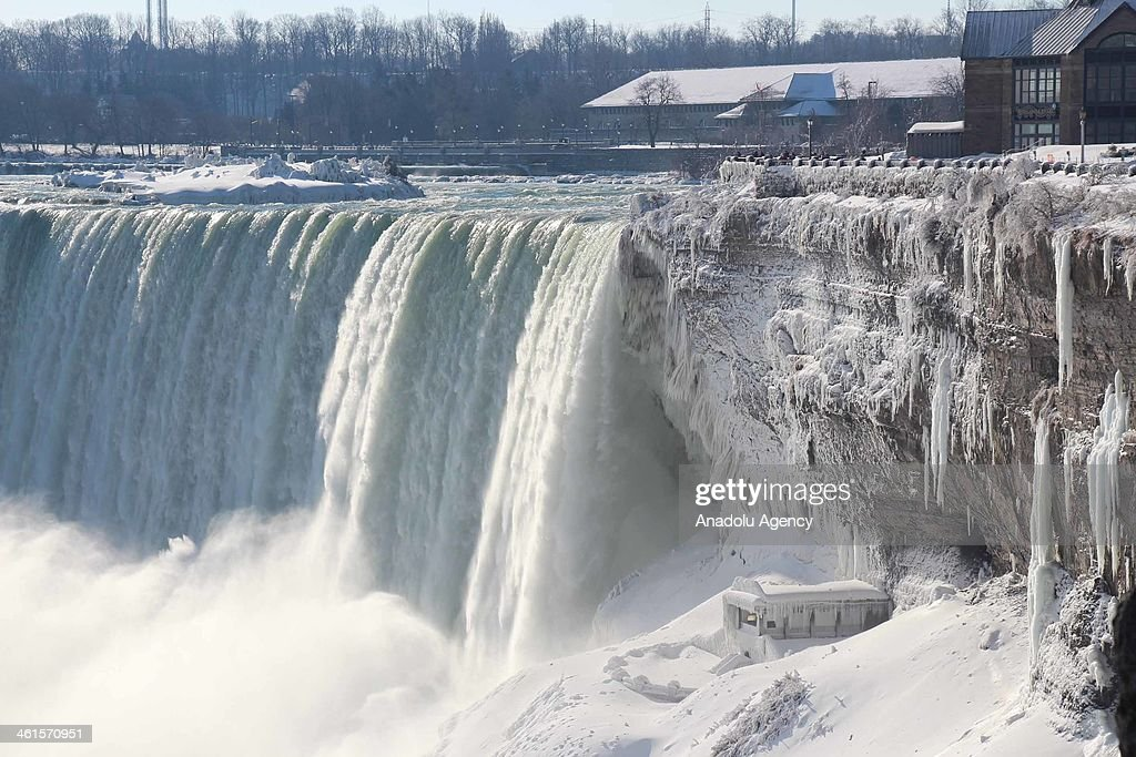 A view of the Niagara Falls frozen over due to the extreme cold weather, Ontario, Canada, January 9, 2014. The Polar Vortex brought record cold temperatures to United States and Canada.