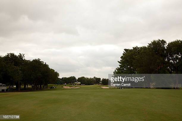 A view of the ninth hole during the HP Byron Nelson Championship at TPC Four Seasons Resort Las Colinas on May 21 2010 in Irving Texas