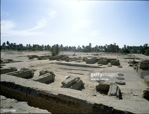 View of the of the sunken garden of the northern section of the Harem Quarter of the Great Palace at Amarna The ancient city of elAmarna was the...