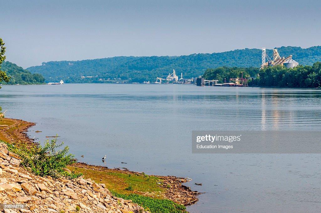 View of the Ohio River between Cincinnat Ohio and Constance Kentucky