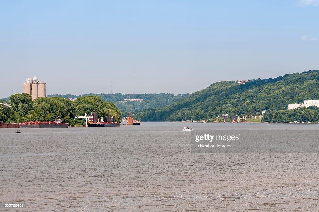View of the Ohio River between Cincinnati Ohio and Constance Kentucky