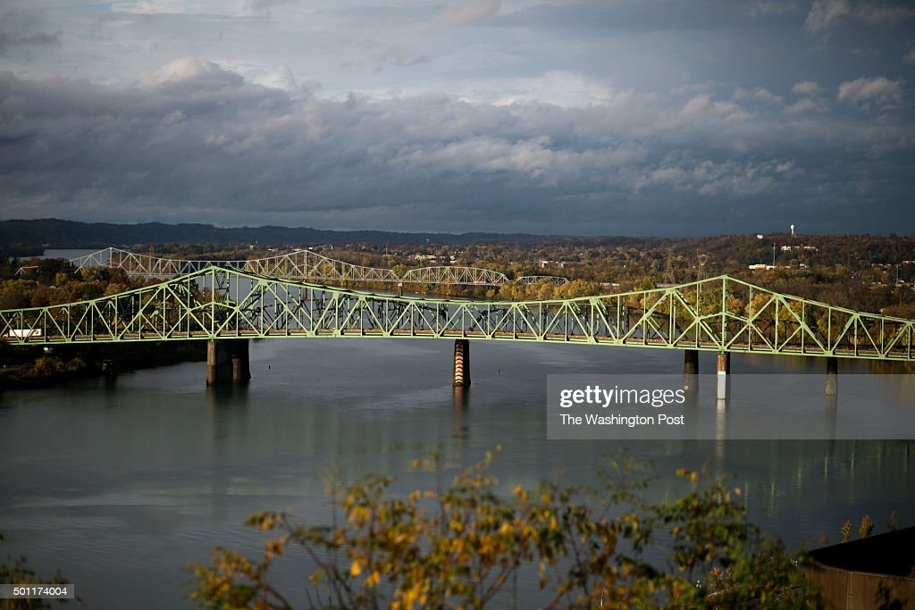 A view of the Ohio River from Fort Boreman Park on October 28 2015