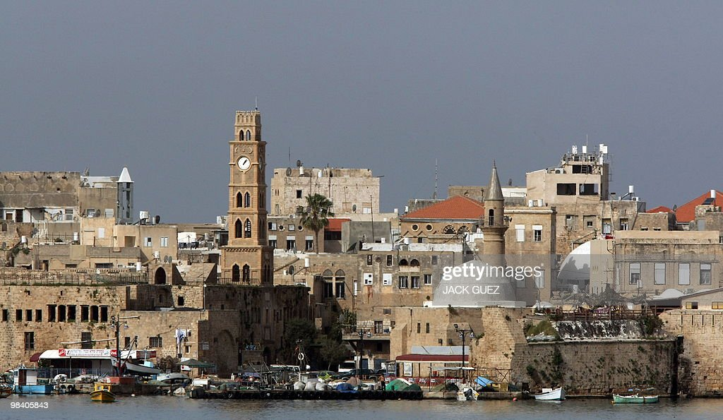 A view of the Old City and its walls in the ancient Mediterranean town of Akko north of Haifa Israel on February 17 2010 The Canaanites the Greeks...