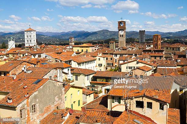 View of the old city of Lucca
