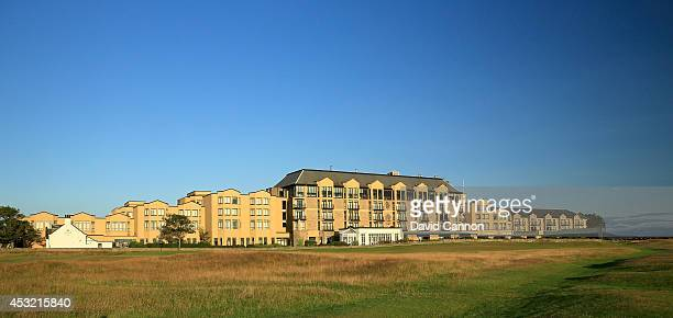 A view of the Old Course Hotel from the second fairway on the Old Course at St Andrews venue for The Open Championship in 2015 on July 29 2014 in St...