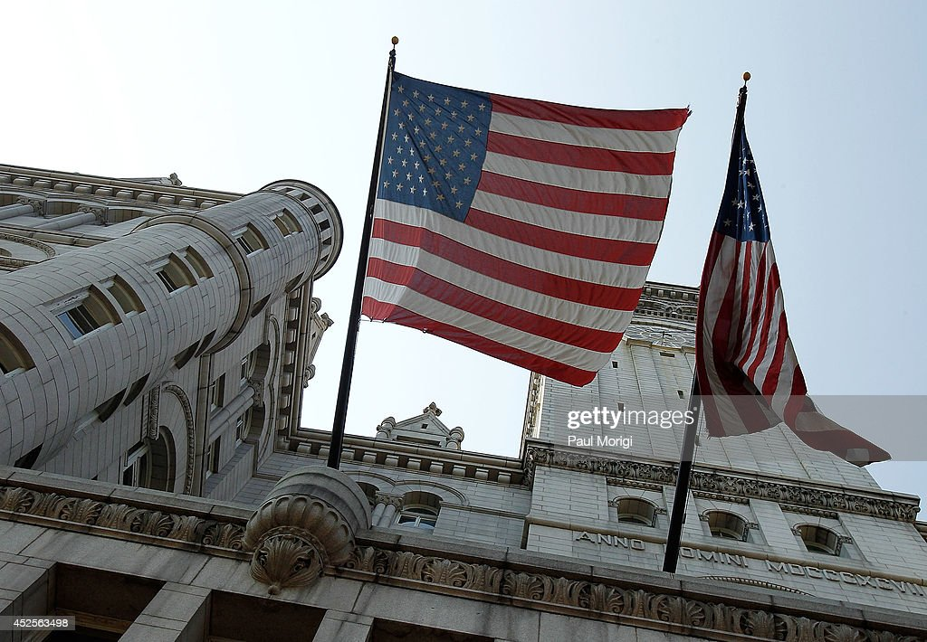 A view of the Old Post Office building before its conversion into the new Trump International Hotel Washington on July 23, 2014 in Washington, DC.