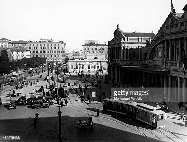 View of the old Roma Termini railway station Rome 27th November 1934