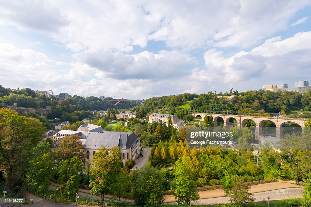 View of the old town of Luxembourg