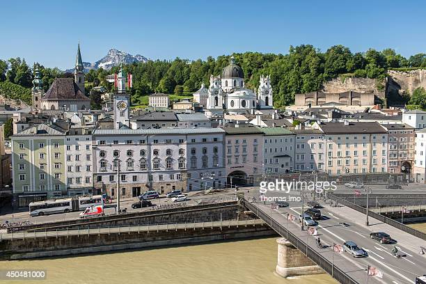 View of the Old town of Salzburg on May 19 in Salzburg Austria The old town is internationally renowned for its baroque architecture