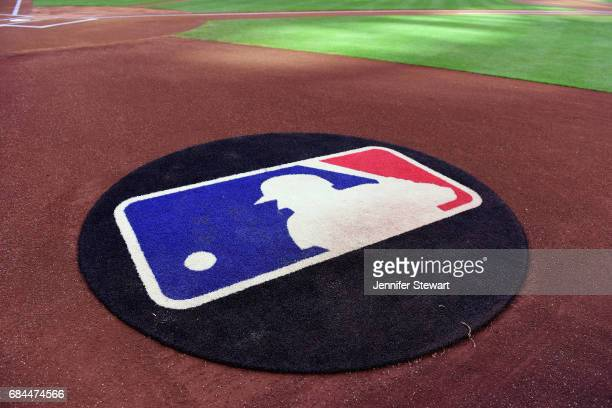 A view of the on deck circle with the MLB logo as it sits on Chase Field on April 8 2017 in Phoenix Arizona