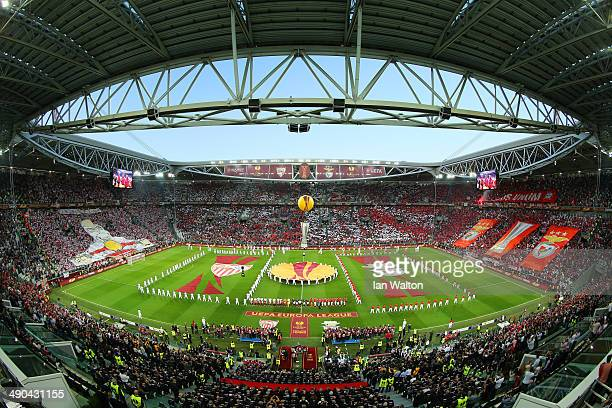 A view of the opening ceremony prior to the UEFA Europa League Final match between Sevilla FC and SL Benfica at Juventus Stadium on May 14 2014 in...