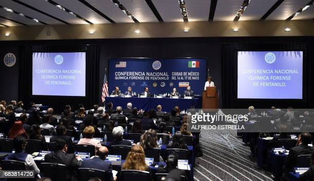 View of the opening of the National Fentanyl Forensic Chemistry Conference in Mexico City on May 16 2016 / AFP PHOTO / ALFREDO ESTRELLA