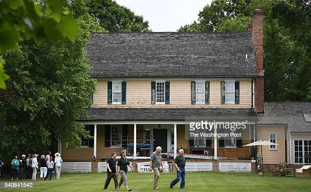 View of the original house of Col Francis Newman and the site believed to house his slaves from the 18th and what anthropologists say is the...