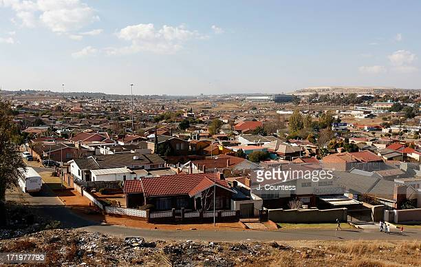 A view of the Orlando West section of Soweto Township on June 30 2013 in Soweto South Africa Orlando West was the location of the first house owned...