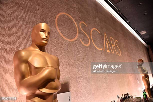 A view of the Oscars logo at the 88th Annual Academy Awards nominee luncheon on February 8 2016 in Beverly Hills California