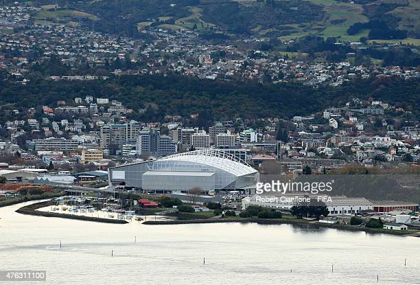 A view of the Otago Stadium on June 8 2015 in Dunedin New Zealand
