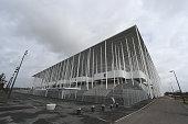 A view of the outside of Nouveau Stade de Bordeaux on February 8 2016 in Bordeaux France
