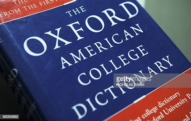 View of the Oxford American College dictionary taken in Washington on November 16 2009 The New Oxford American Dictionary named 'unfriend' as in...