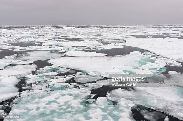 View of the pack ice south of the island of Edgeoya in Svalbard Norway