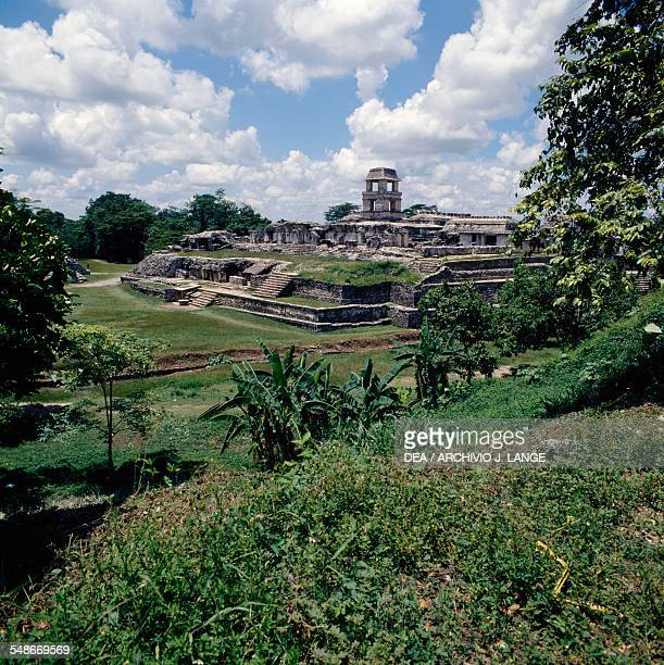 View of the Palace Palenque Chiapas Mexico Mayan civilisation 7th8th century