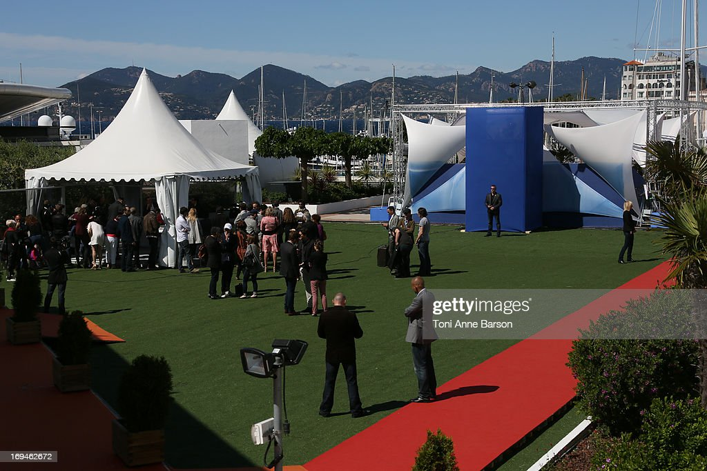 View of the Palais roof top after the photocall for 'The Immigrant' at The 66th Annual Cannes Film Festival on May 24, 2013 in Cannes, France.