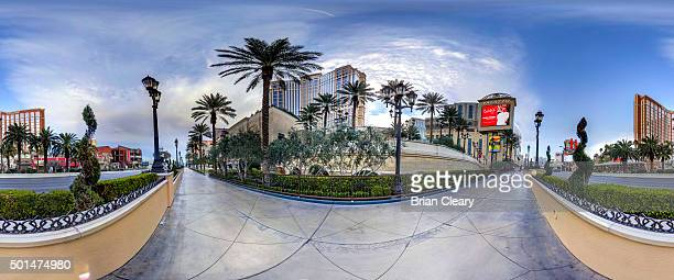 A 360 view of The Palazzo Casino on the Las Vegas strip early morning December 4 2015