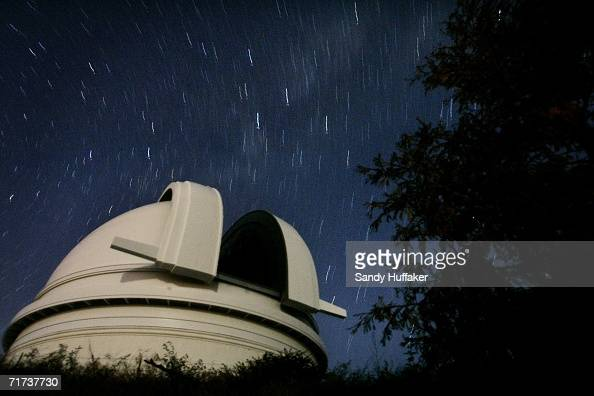 View of the Palomar Observatory at night on August 28 outside of San Diego California Scientists at the obsevatory were instrumental in determining...