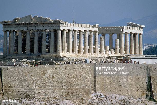 View of the Parthenon Acropolis of Athens Greece Greek civilisation 5th century BC