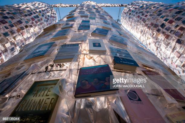 View of the 'Parthenon of Books' by Argentinian artist Marta Minujin at the Documenta 14 art exhibition in Kassel on June 1 2017 The Parthenon of...