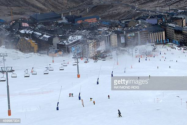 A view of the PasdelaCase ski resort on December 5 the first Pyrenean ski resort to open a part of its slopes this season AFP PHOTO / RAYMOND ROIG