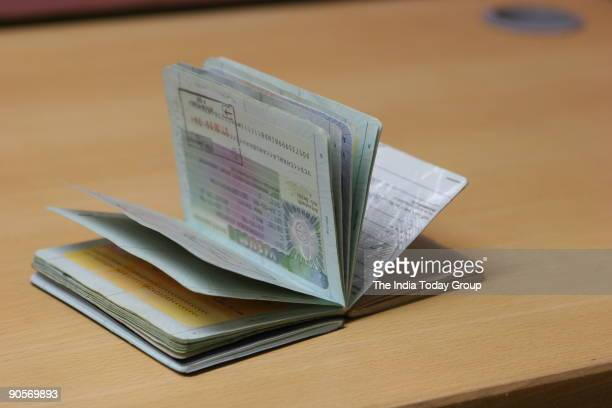 View of the Passport made by Government of India