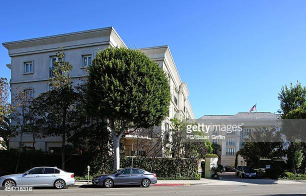 A view of the Peninsula Hotel in Beverly Hills on September 05 2014 in Los Angeles California