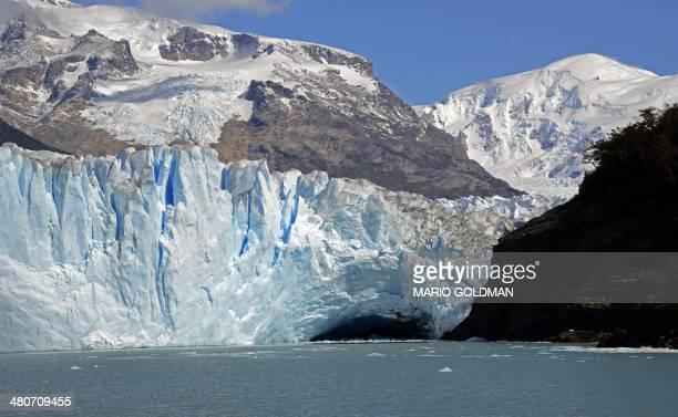 View of the Perito Moreno Glacier at Los Glaciares National Park Santa Cruz province Argentina on March 17 2014 AFP PHOTO / MARIO GOLDMAN