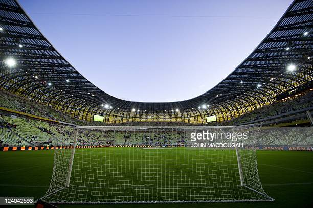 View of the PGE stadium prior to the International friendly football match Poland vs Germany in the northern Polish city of Gdansk on September 6...