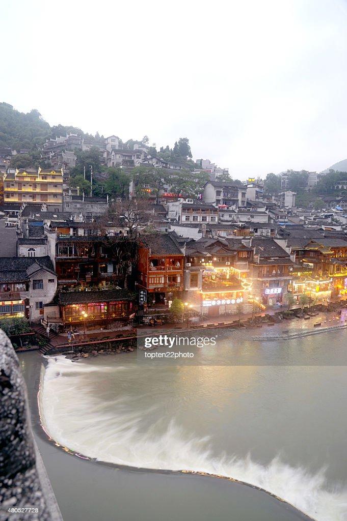 Vista di Phoenix città vecchia di Fenghuang (città). : Foto stock