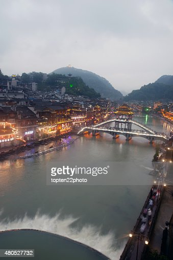 View of the Phoenix town ( Fenghuang ancient city ). : Stockfoto
