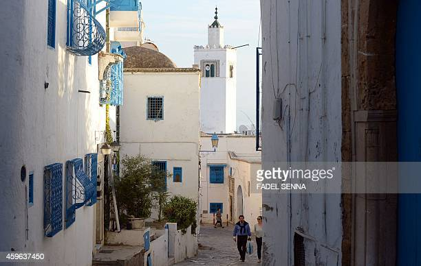 A view of the picturesque village of Sidi Bou Said 15 km from Tunis on October 26 2014 AFP PHOTO /FADEL SENNA