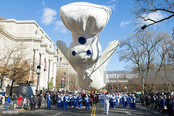 A view of the Pillsbury Doughboy float during the 87th annual Macy's Thanksgiving Day parade on November 28 2013 in New York City