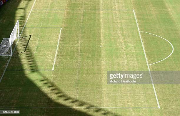 A view of the pitch at the Arena Amazonia on June 12 2014 in Manaus Brazil England play Italy in their group opening match on Saturday 14th June in...