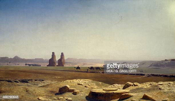View of the plain of Thebes painting by JeanLeon Gerome oil on canvas 76x131 cm