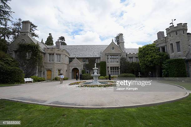 A view of the Playboy Mansion during Playboy's 2015 Playmate of the Year Ceremony at the Playboy Mansion on May 14 2015 in Los Angeles California