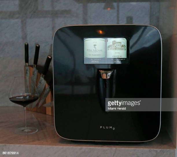 A view of the Plum on Wednesday Sept 6 2017 in Miami Fla David Koretz' company Plum has created a hightech wine appliance that serves wine at the...