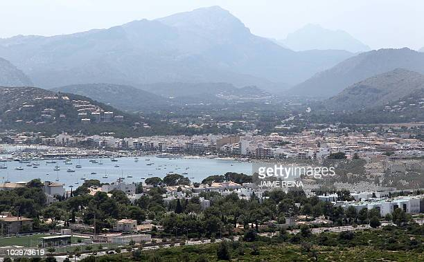 A view of the port of Pollensa near where France's L'Oreal heiress Liliane Bettencourt has a house at Formentor on July 19 2010 on Mallorca Island...